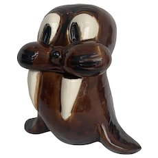 Vintage Walrus Cookie Jar 1970s