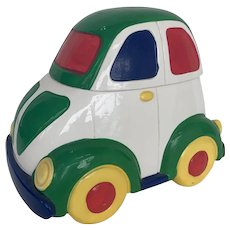 Vintage Car Cookie Jar Handmade 1970s