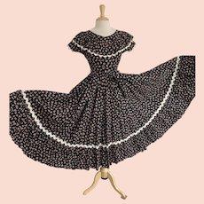 Vintage Dorna Gordon 1930s Floral Prairie Dress