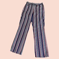 Vintage Lee 1960s Red, White, and Blue Striped Jeans