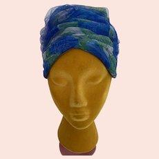 Vintage 1960s Beehive, Turban Style Hat