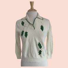 1960s Algene Collared Lambswool Sweater