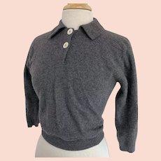 Joseph Magnin Vintage 1950s Gray Lambswool Sweater