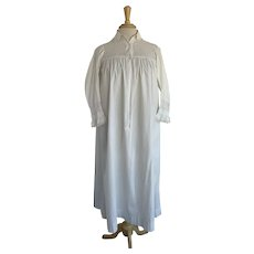 1920s German Lace Cotton Nightgown