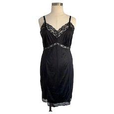 Gaymode Vintage 1950s Black Lace Slip