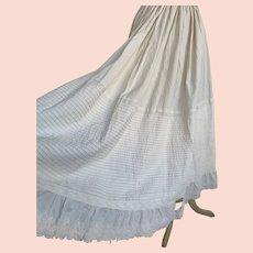 Edwardian 1900s Cotton Petticoat