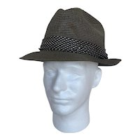 Dobbs Fifth Avenue Vintage 1950s Straw Fedora
