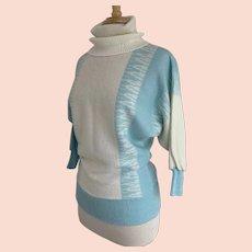 Le Sah Petites by LeRoy Knits Vintage 1970s Turtleneck Sweater