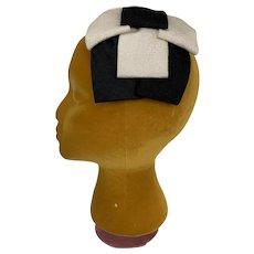 Vintage 1960s Headband Clip Hat