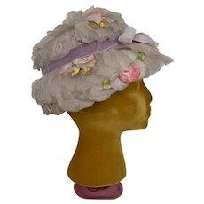 Juli-Kay Vintage 1960s Floral Lampshade Hat