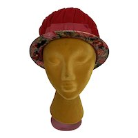 Vintage 1960s Mod Lame and Velvet Cloche Hat