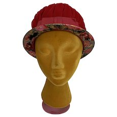 Vintage 1960s Mod Lame and Velvet Cloche Hat