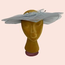 Open Crown Vintage 1940s Garden Party Hat