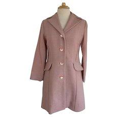 1950s/60s Dusty Rose Vintage Coat