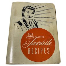 Our Favorite Recipes Vintage 1949 Church Cookbook