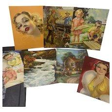 """Beaux-Art"" Calendars Vintage 1940 Salesman""s Sample, Pin Up Prints"