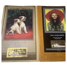 Coronet Art Calendars, Vintage 1940 Salesman's Sample Portfolio