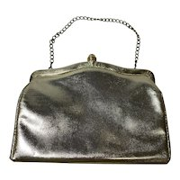 Metallic Gold, Vintage 1960s Clutch Purse