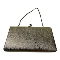 Textured Gold Metallic Vintage 1960s Clutch