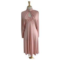 Emma Domb, Vintage 1960s, Rose Gold Cocktail Dress and Jacket
