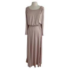 Blush, Vintage 1970s, Grecian Style Dress