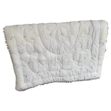 Lavender and Cream, Vintage 1960s, Dacron Crib Blanket