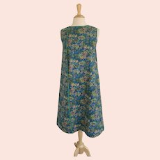 Vintage 1970s, Full Length Smock, Wrap Apron