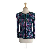 Stenay, Vintage 1980s, Heavily Sequined and Beaded Jacket