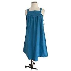 Bon Jour, Vintage 1980s,  Dark Turquoise Jumper Dress