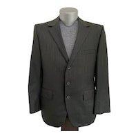 Ahern's, Vintage 1960s, 3 Button Pinstripe Suit