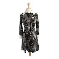 Buttons By Hili, Vintage 1970s, Polka Dot Midi Dress