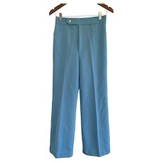 Wendy Winter, Vintage 1970s, Blue Wide Leg Trousers