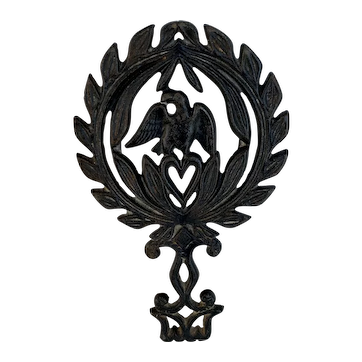 Eagle and Heart Cast Iron Trivet