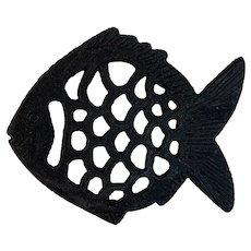 Cast Iron Fish Trivet