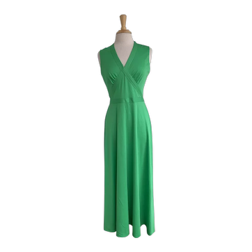 Alison Ayres Original Green 1970s Sleeveless Green Dress