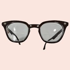 B&L Bausch and Lomb 1960s Bifocal Safety Glasses