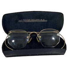 American Optical 12 K GF Octagon, Semi Rimmed Eyeglasses