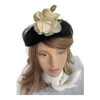 Noreen Fashions Black Felt Tilt Topper