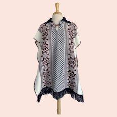 Vintage 1970s Pull Over Blanket Poncho