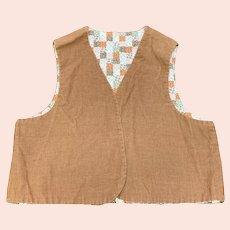 Child's Corduroy Vest Vintage 1970s