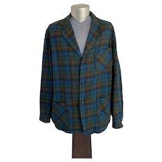 Pendleton Plaid Wool Shirt Weight Jacket