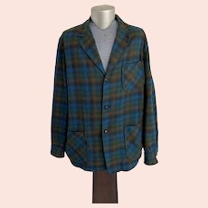 Pendleton Plaid Wool Shirt Weight Jacket