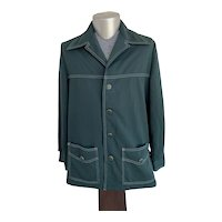 Green 1970s Leisure Suit Jacket