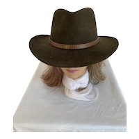 Olive Green Flex Felt Cowboy Hat