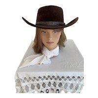 Sears Velour Cowboy Hat