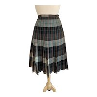 "Century of Boston Plaid Wool 1950s Reversible ""Turnabout"" Skirt"