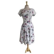 Christina Grant Vintage 1980s Cotton Floral Dress