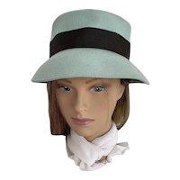 Mint and Chocolate Wool Bucket Hat by Neumann Endler, Fairfield Felt