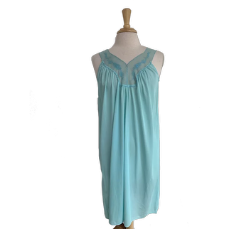Blue 1960s JCPenney Nightgown