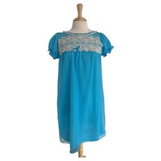1960s Babydoll Cap Sleeve Nightgown
